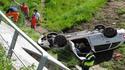 Wypadek na autostradzie w rejonie węzła