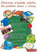 Pomoc dla polskich dzieci na Litwie