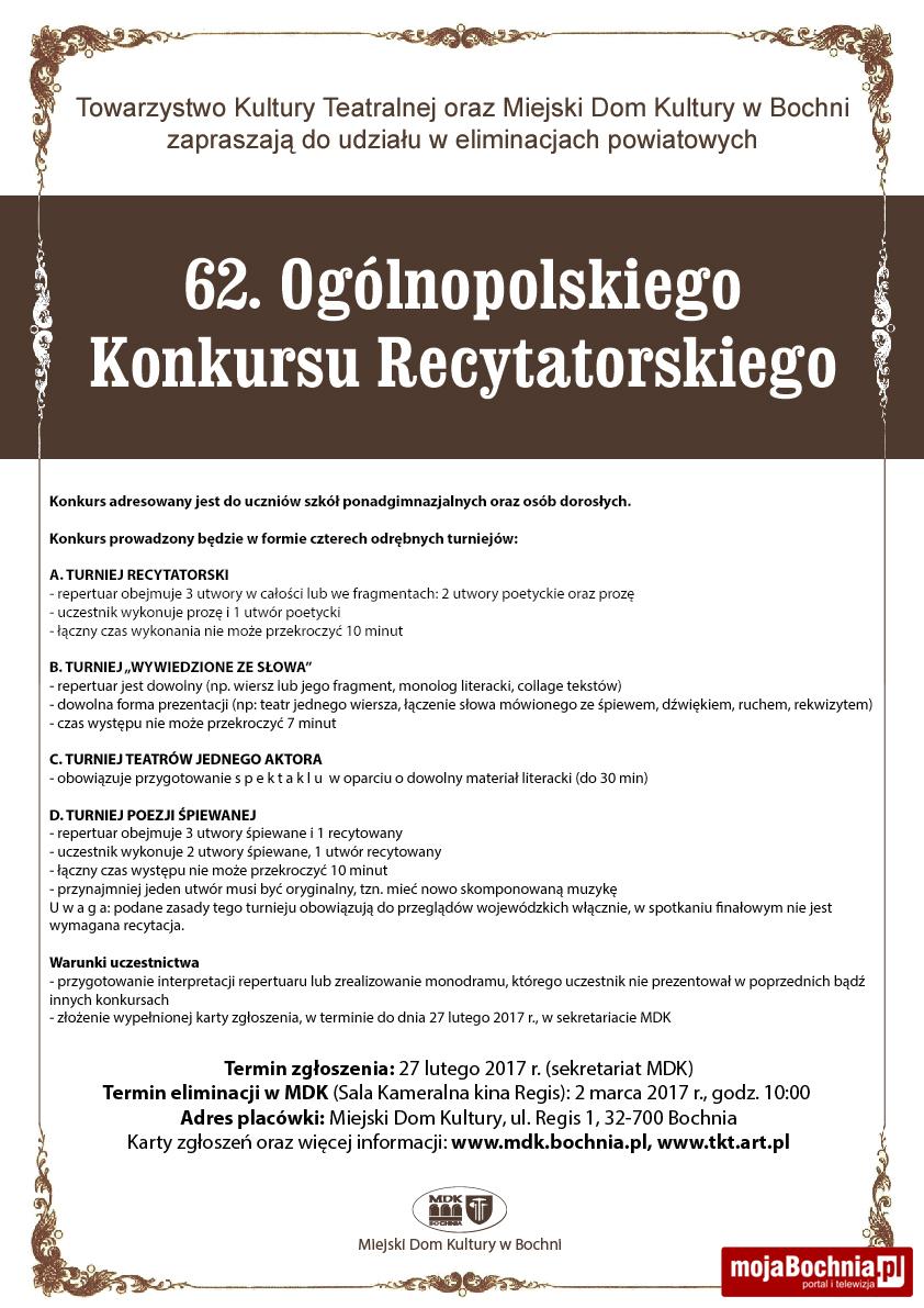 Konkurs Recytatorski Mojabochniapl Portal Informacyjny