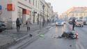 Potrącenie motorowerzysty w centrum Bochni, 27 I 2017