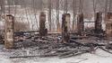 Spalona stodoła w Dąbrowicy, 24 I 2017