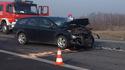 Wypadek obok stacji paliw w Gorzkowie, 14 II 2017