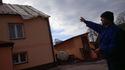 Zerwane dachy w gm. Drwinia, 24 II 2017
