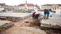 Badania archeologiczne na płycie Rynku, 20 IV 2017