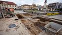 Badania archeologiczne na Rynku w Bochni, 25 IV 2017